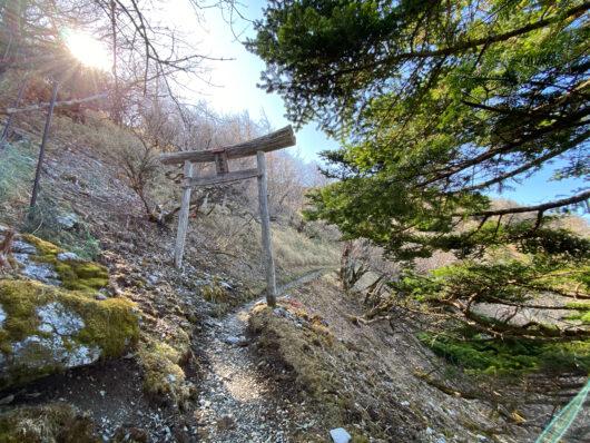 剣山 剣道コース入口