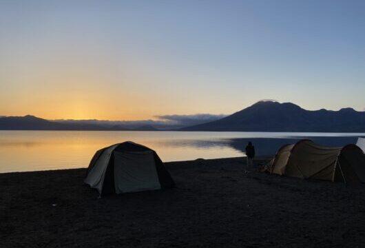 美笛キャンプ場 日の出
